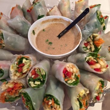 Fresh Spring Rolls with Nutty Dipping Sauce for Naturopathic Medicine Week 2016