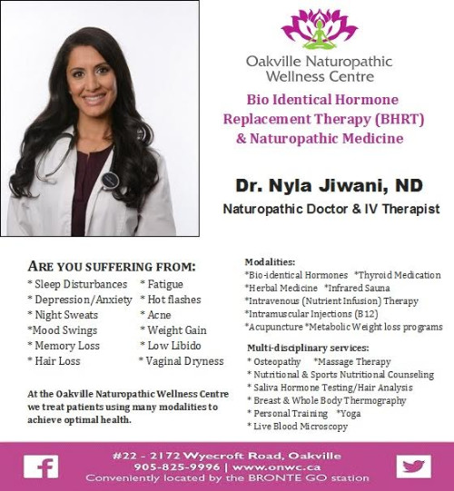 Bio-identical Hormone Replacement Therapy (BHRT) provided by Dr. Nyla Jiwani ND