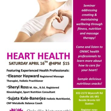 Heart Health Seminar – Saturday April 16, 2016 @4pm (ONWC)